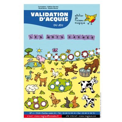 LES MOTS CACHÉS VALIDATION D'ACQUIS