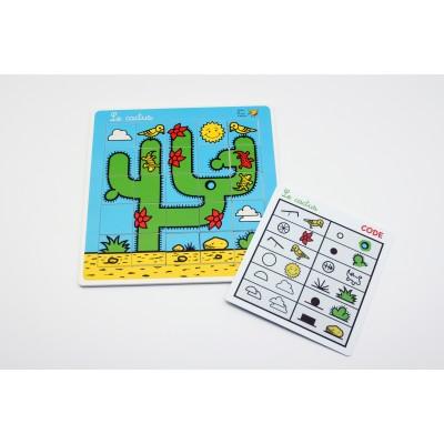 Plateau et carte - Cactus kit
