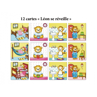 Cartes - La journée de Léon
