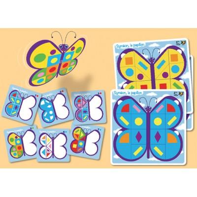 Jeu de symétrie et d'orientation spatiale - Syméon le papillon