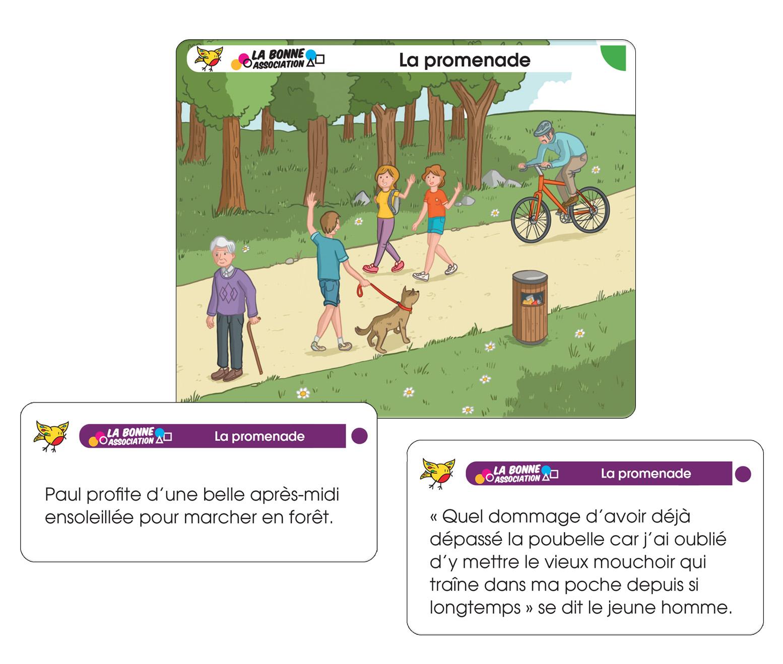 Cartes exemples : La promenade